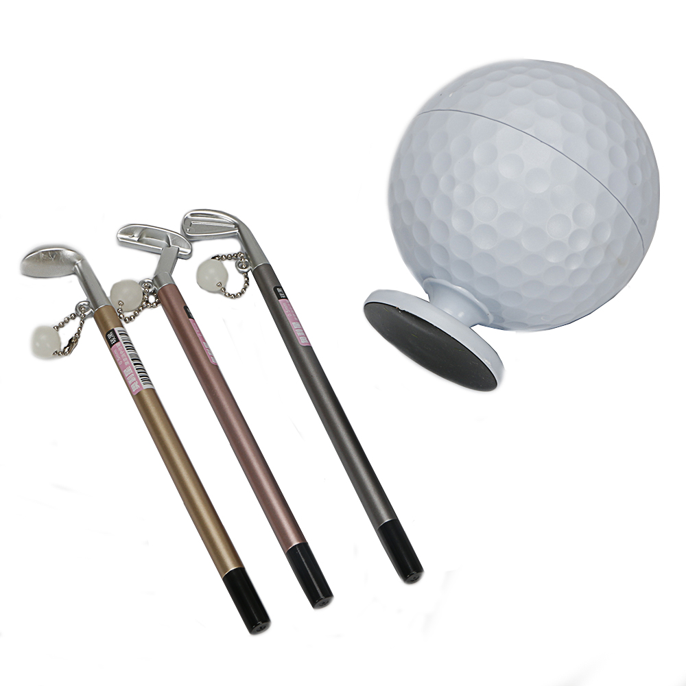 Image 3 - Practical Mini Superior Golf Club Models Ball Pen + Golf Ball holder Set Golf Accessories free shipping-in Golf Training Aids from Sports & Entertainment