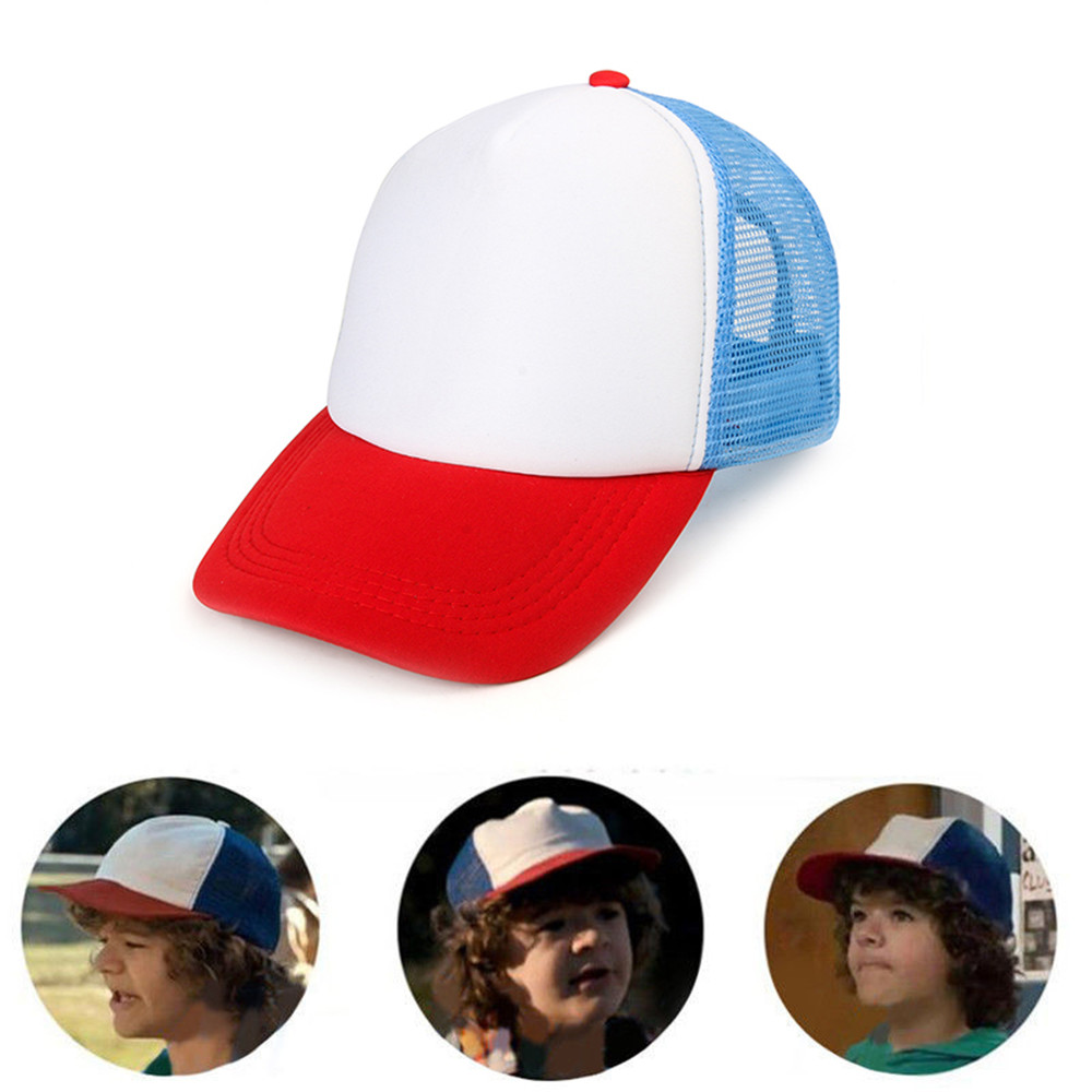 Takerlama Stranger Things Drama Cosplay Snapback Caps Baseball Mesh Trucker Cap Hat Adjustable for Kids & Adult