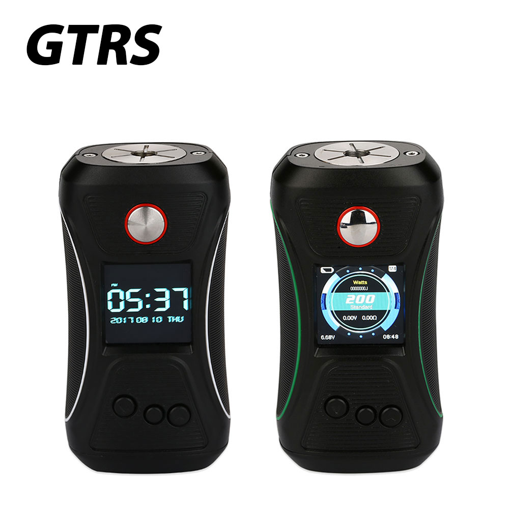200W Original GTRS VBOY 200 TC Box MOD with Voltage 6.6-8.4V & 1.3-inch TFT IPS Full Color Display & SX500 Chipset No Battery