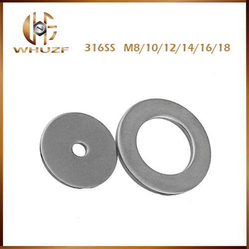Free shipping 316 SS M8/10/12/14/16/18 washers Flat Pad Thick Stainless Steel Flat Pad Flat Washers