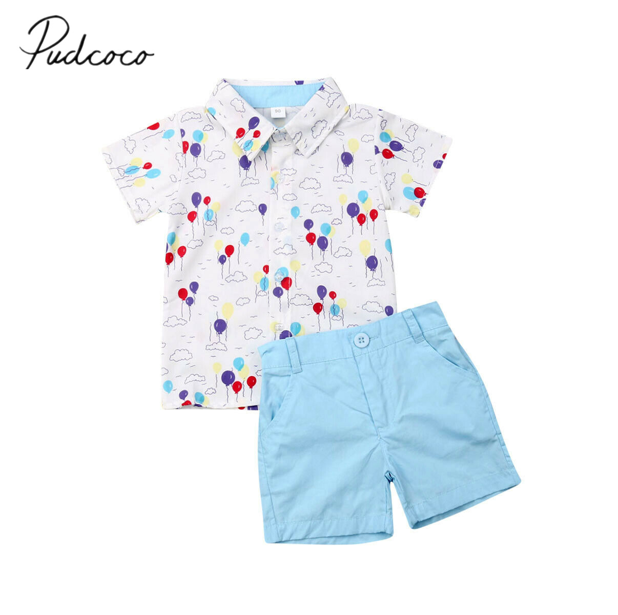 Toddler Kids Baby Boy Clothes Giraffe Print Tops Shorts 2Pcs Outfit Sunsuit 1-6Y