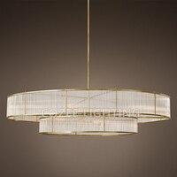 Interior Design Modern Glass Rod Chandeliers LED Lighting Vintage Round Chandelier Light For Living Dining Room