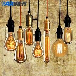 Karwen винтажная лампочка Эдисона E27 лампада Ретро лампа накаливания 40 Вт 220 В Edison свет для подвесные лампы, украшения