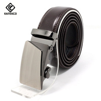 High Quality Brand Of Young Men S Belt Automatically Genuine Brown Leather Belt Waistband Simple Atmospheric