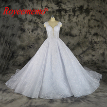 Vestido de Noiva shining lace wedding transparent top special lace wedding gown custom made factory wholesale price bridal dress