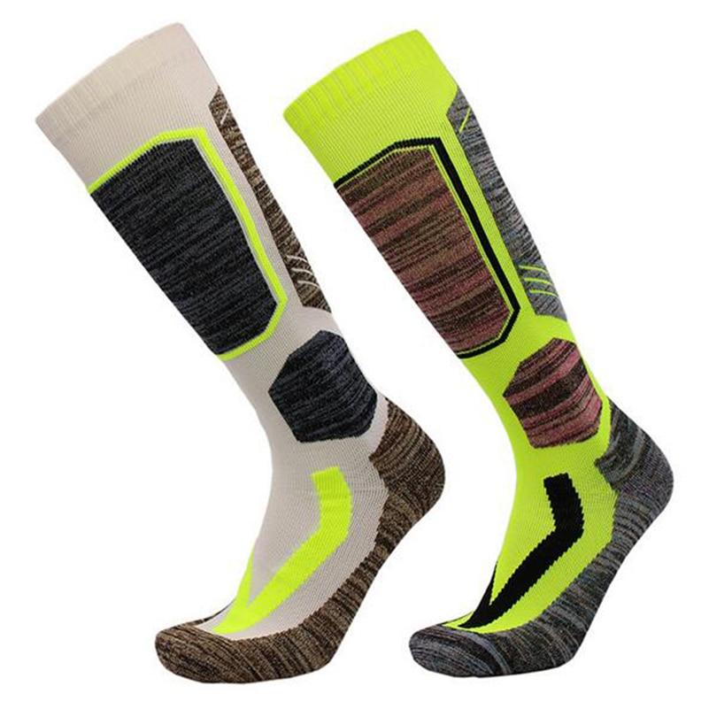 2017 high quality Winter Women Thermal Ski Socks Cotton Sports Snowboard Skiing Camping Hiking Socks Thermosocks Leg Warmers