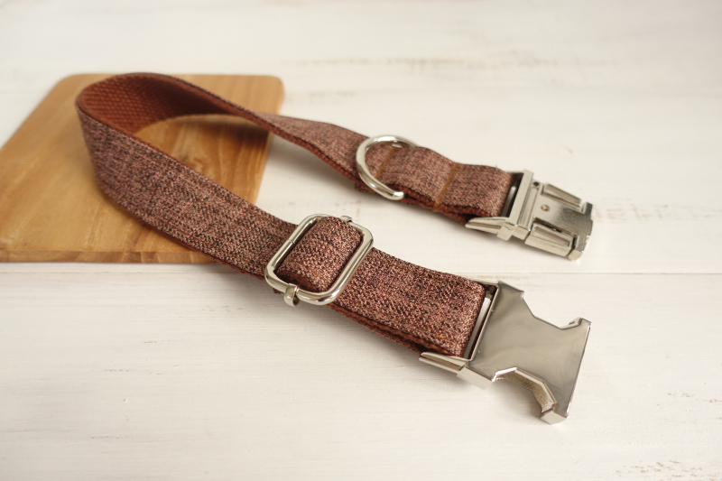 10pcs/lot MUTTCO wholesale self-design handmade high quality dog collar like gentleman THE BROWN SUIT dog collar 5 sizes UDC039