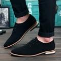 Hombres Zapatos Oxford 2017 sping/otoño Nueva Suede Planos del Cuero Genuino de Los Hombres de Oxford Zapatos Ocasionales de Los Hombres Pisos Mocasines zapatos hombre