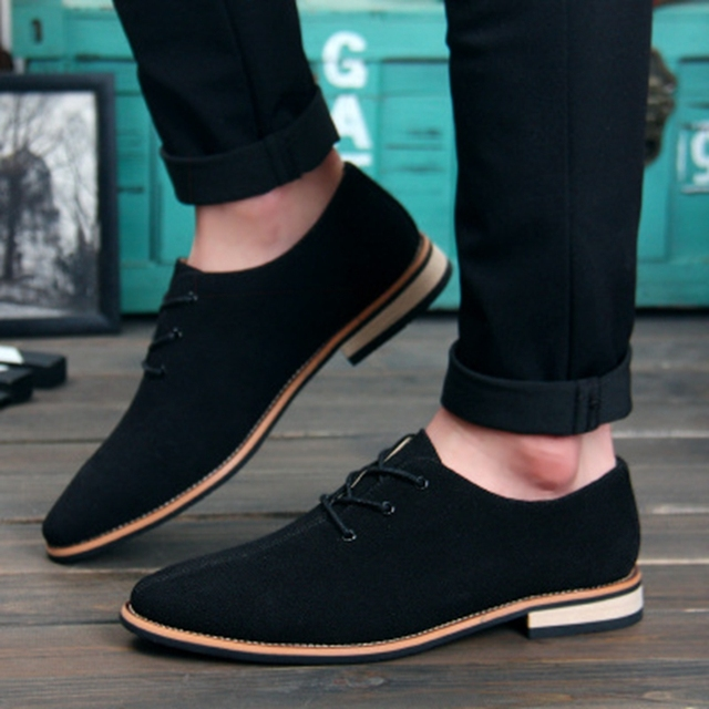 Men Oxford Shoes 2017 sping/autumn New Suede Genuine Leather Men's Flat Oxford Casual Shoes Men Flats Loafers zapatos hombre