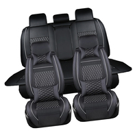 Pass Artificial Auto Seat Covers Pu Leather Car Seat Interior Accessories Seat Mat Set For Dongfeng