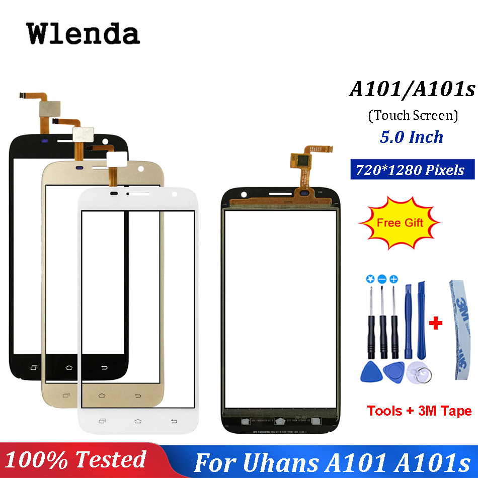 Touch Screen For Uhans A101 A101s Front Glass Lens Mobile Phone Touch Panel Sensor Tools