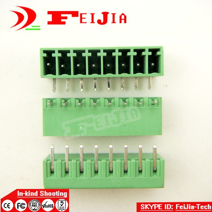 (50pcs/lot) 15EDG-3.5-8P Bend Pin PCB Screw Terminal Block Connector 3.5mm Pitch 8 Pins Plug in hot factory direct wholesale idc40 male plug 40pin port header terminal breakout pcb board block 2 row screw
