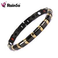 Free Shipping 2014 Fashion Jewelry Healing Magnetic 316L Stainless Steel Bracelet For Men Or Women With