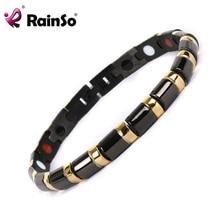 Rainso 2017 здоровья браслет Исцеления Магнитный 316L Нержавеющая Сталь Браслет для Для мужчин или Для женщин с пихты и магнитных