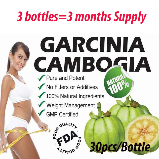 90 Caps for 3 months USE! Garcinia cambogia weight loss diet supplement Burn Fat ( 75% HCA ) Slimming for women