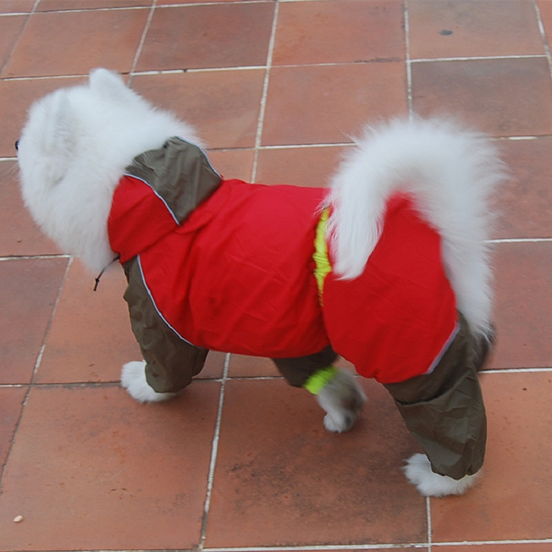 Waterproof Dog Raincoat Coveralls For Dogs font b Pet b font Clothes Hoodies font b Pet