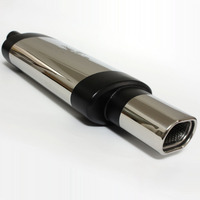 Universal Car Exhaust Muffler Pipe Tips Stainless Steel 2 Inlet 3 Outlet Chrome Modified Racing Performance