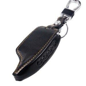 Image 3 - Jingyuqin Voor Scher Khan Magicar 5/6 Leather Case Voor Scher Khan Magicar M5 M6 Lcd Alarm Afstandsbediening Sleutelhanger Cover protector