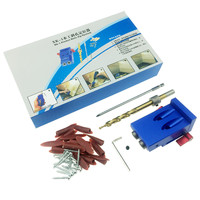 2 Set Mini Pocket Hole Jig Kit Screwdriver Step Drill Bit Wrench With Box For Woodworking