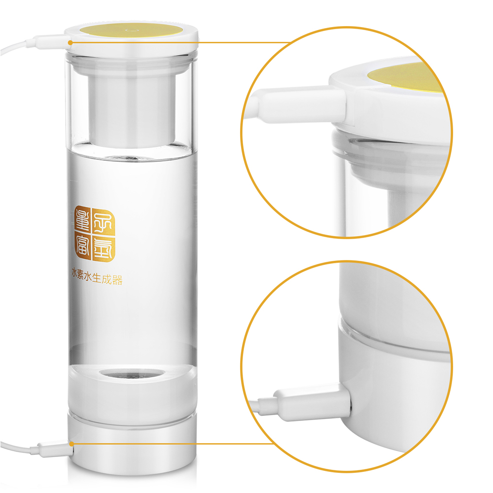 Glass implanted quantum and MRETOH +Hydrogen Rich generator Wireless transmission  touch switch H2 water cup