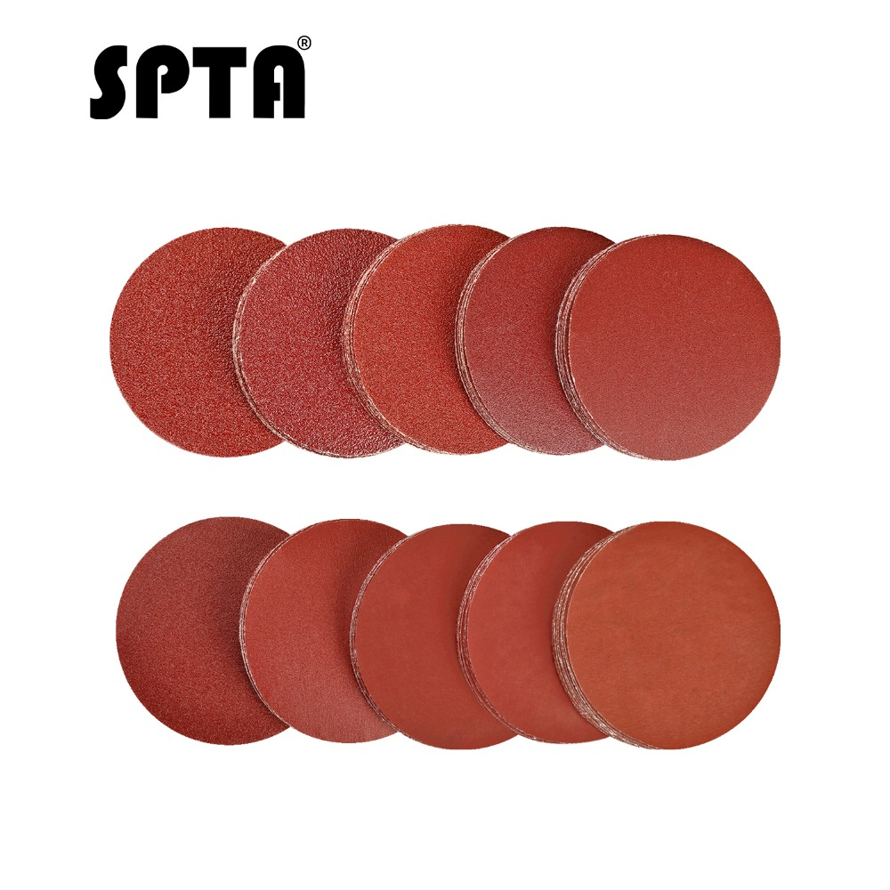 SPTA 200pcs Sanding Discs Pad 2 Inch For Drill Grinder Rotary Tools Kit Woodworking Sander Sand Paper With Mix Grit 40# -2000#