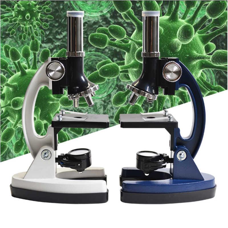 Chanseon 100X 600X 1200X микроскоп для детей, студентов, подарок, светодиодный металлический каркас, оптические линзы, студенческий Биологический микроскоп, подставка