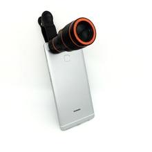 Para iphoe 6 7 Universal 12X Zoom Teleobjetivo Teléfono Móvil Lente del telescopio SE Origina Resistente Lentes Para el iphone 5S 6 7 Samsung