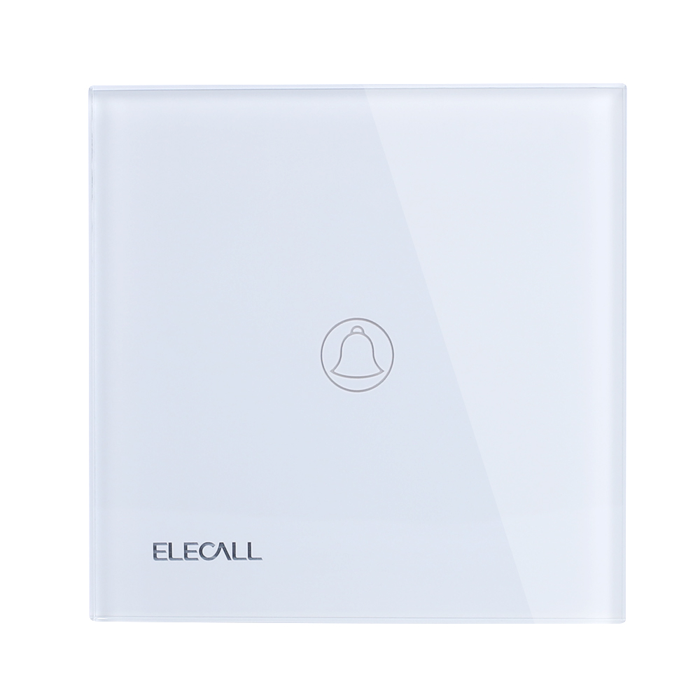 ELECALL Smart swich Touch Switch  Wall Light Touch Screen Switch+LED Indicator Crystal Glass Switch Panel SK-A801M-EU smart home touch control wall light switch crystal glass panel switches 220v led switch 1gang 1way eu lamp touch switch