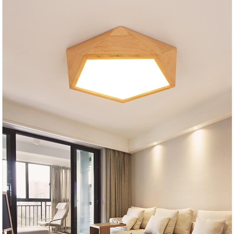 Koop moderne houten plafond verlichting lampen led voor woonkamer plafondlamp - Moderne deckenverkleidung ...