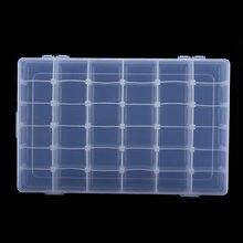 36 Slots Adjustable Jewelry Beads Storage Box Case Plastic Craft Organizer