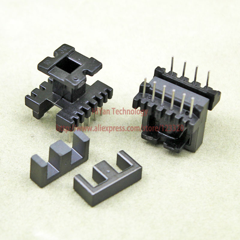 20sets/lot EE16 PC40 Ferrite Magnetic Core and 6 Pins + 4 Pins Top Entry Plastic Bobbin Customize Voltage Transformer 20sets lot ee16 pc40 ferrite magnetic core and 5 pins 5 pins side entry plastic bobbin customize voltage transformer