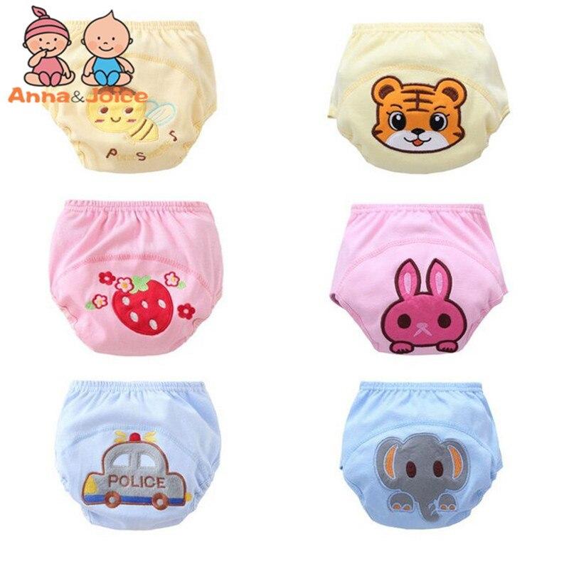 30 Pcs lot Baby Washable Diapers Children Reusable Underwear 100 Cotton Breathable Training Pants