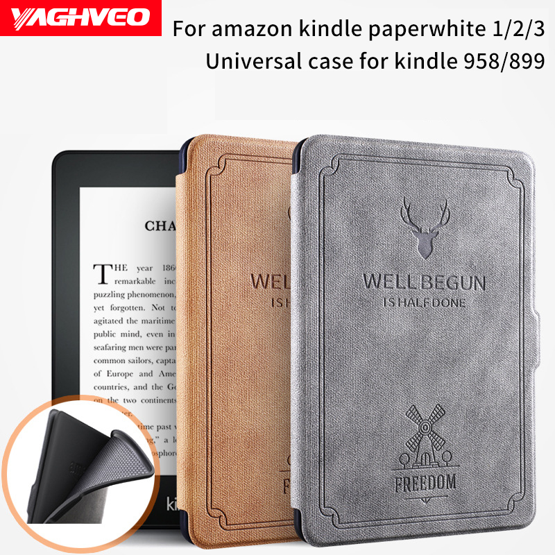 For Kindle Paperwhite 1 2 3 Case 6 Inch E-book Shell for Amazon Kindle Paperwhite Silicone Soft Protective Cover smart cover case for amazon kindle paperwhite 1 2 3 6 case for kindle paperwhite 6 inch tablet shell with sleep