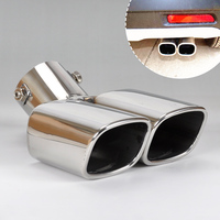 New 1Pc Universal Exhaust Tailpipe Tail Pipe Rear Muffler For Nissan Versa Honda Fit Ford Focus