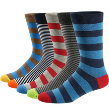 Ueither 5 Pairs Men s Fun Dress Socks Colorful Funky Patterned Cotton Crew Socks