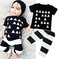 Fashion 2pcs Baby Boy Kids short sleeves T-shirt Tops + Pants Outfit Clothing Suit Cute Printing Children Clothes Sets