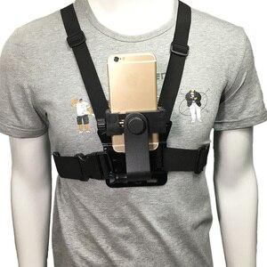 Image 1 - Крепление на грудь для мобильного телефона, крепление на ремень, держатель, мобильный телефон, зажим для Samsung, iphone, Huawei, Xiaomi, смартфон, GoPro 6, 5, YI, 4K камера