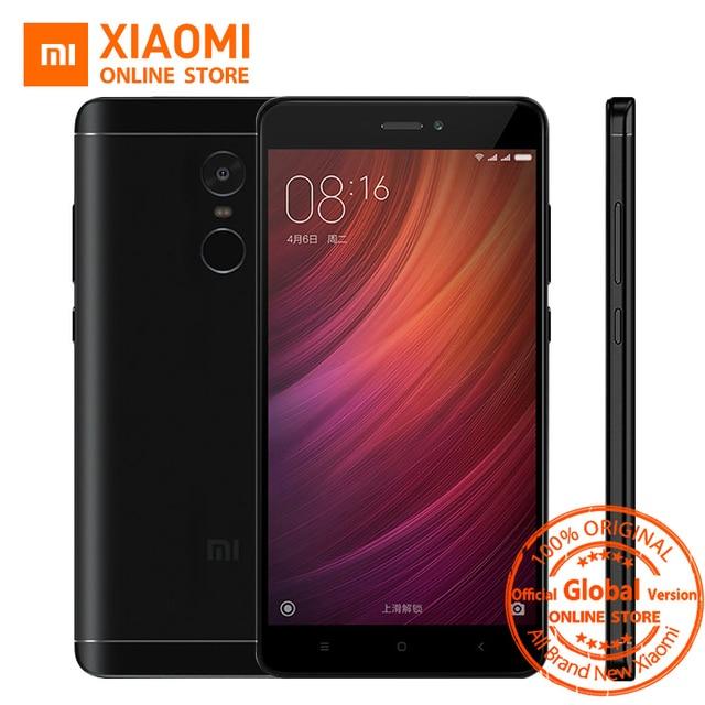 "Глобальная версия Xiaomi Redmi Note 4 4 ГБ 64 ГБ Snapdragon 625 Octa core отпечатков пальцев ID 4100 мАч смартфон 5.5 ""1080 P 13MP MIUI 8.5"