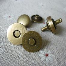 Двусторонний винт магнитного пряжки бронзовый цвет двусторонний заклепки магнит застежка 14 мм-18 мм магнит застежка пряжка магнитная застежка