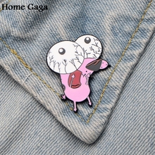 Homegaga COURAGE The Cowardly Dog Metal Enamel pins Trendy para backpack shirt clothes brooches badges for men women D1499 2sd1499 d1499 to 220f