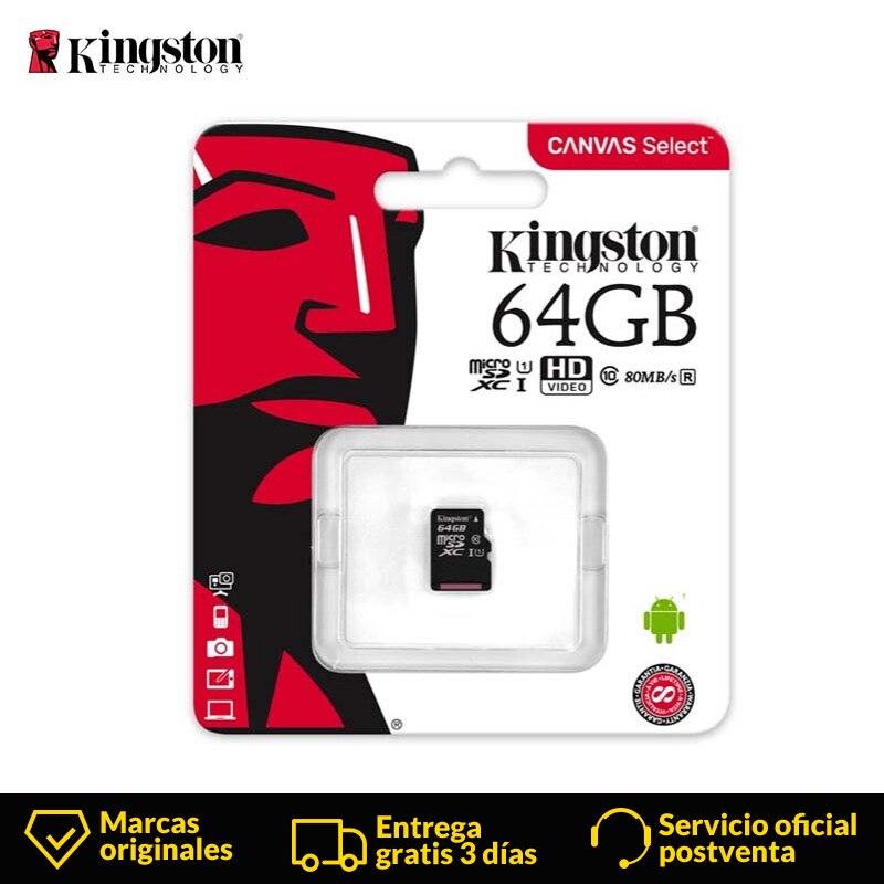 Carte mémoire Micro SD Kingston 64GB 16GB 32GB 128GB carte mémoire microSD classe 10 UHS-I carte flash SD TF carte SDHC SDXC pour tablette
