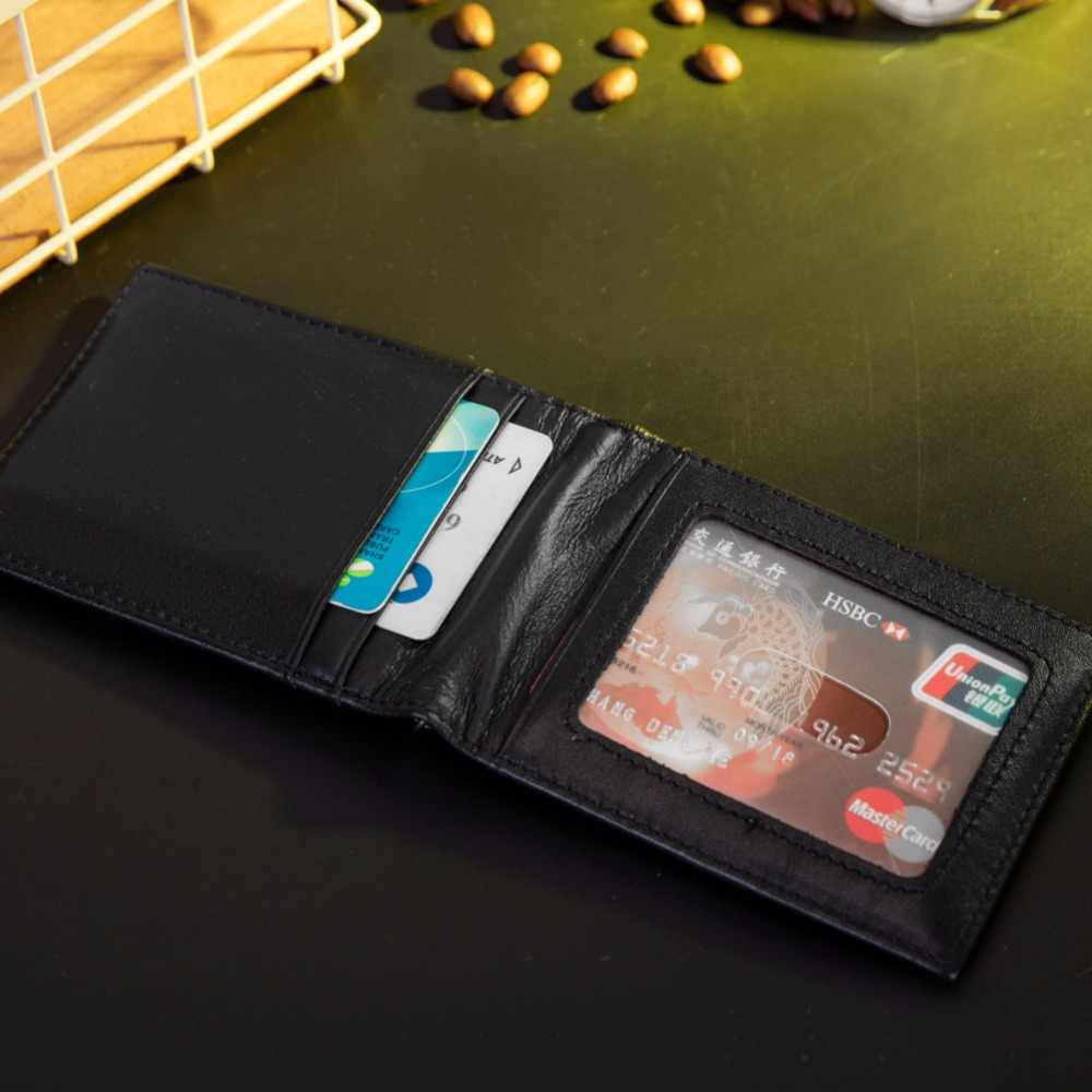 8bd33ea8b27a RFID Theft Protect Dollar Price Men Wallets Famous Brand With Money Clip  Purse Genuine Cow Leather Wallets