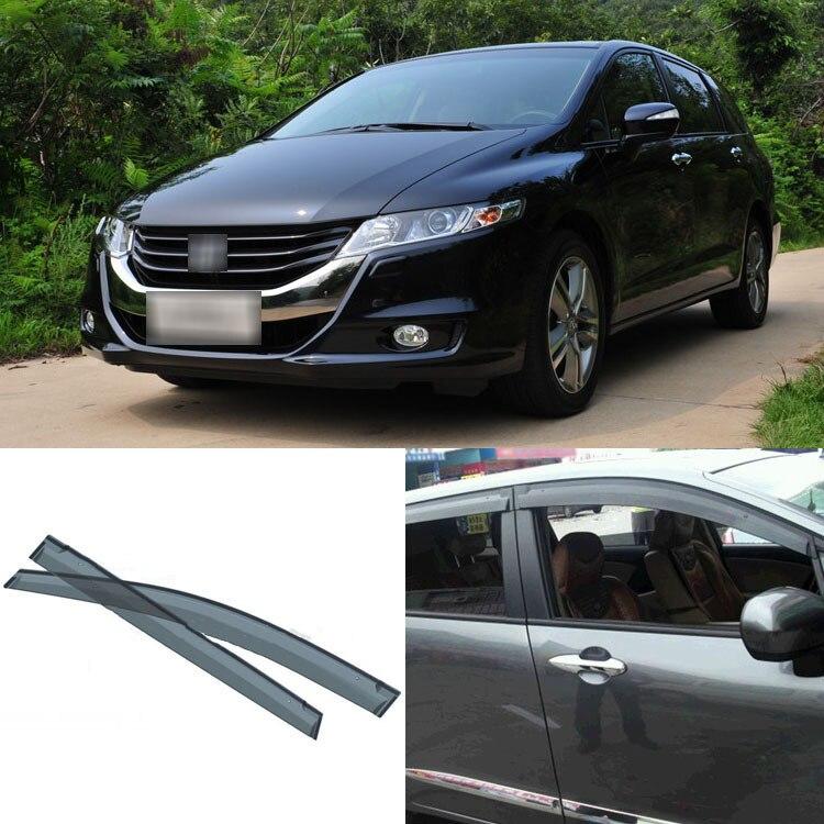Цзинькэ 4шт лезвия боковых окон Дефлекторы дверей солнцезащитный козырек щит для Honda 2009-2012 Одиссея