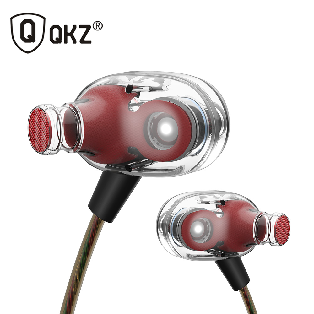 QKZ KD8 Dual Driver Noise Isolating Bass In-Ear HiFi Earphone for Phone Wired Stereo Microphone Control Headset for Music dhl free 2pcs black white m6 pro universal 3 5mm wired in ear earphone noise isolating musician monitors brand new headphones