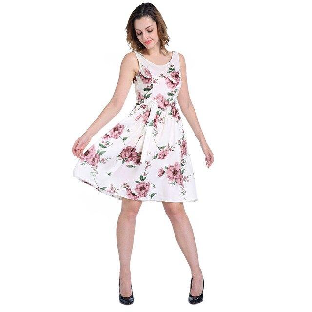 Fashion Women Casual Dress Women Sleeve Floral Printed Mini Dress ...