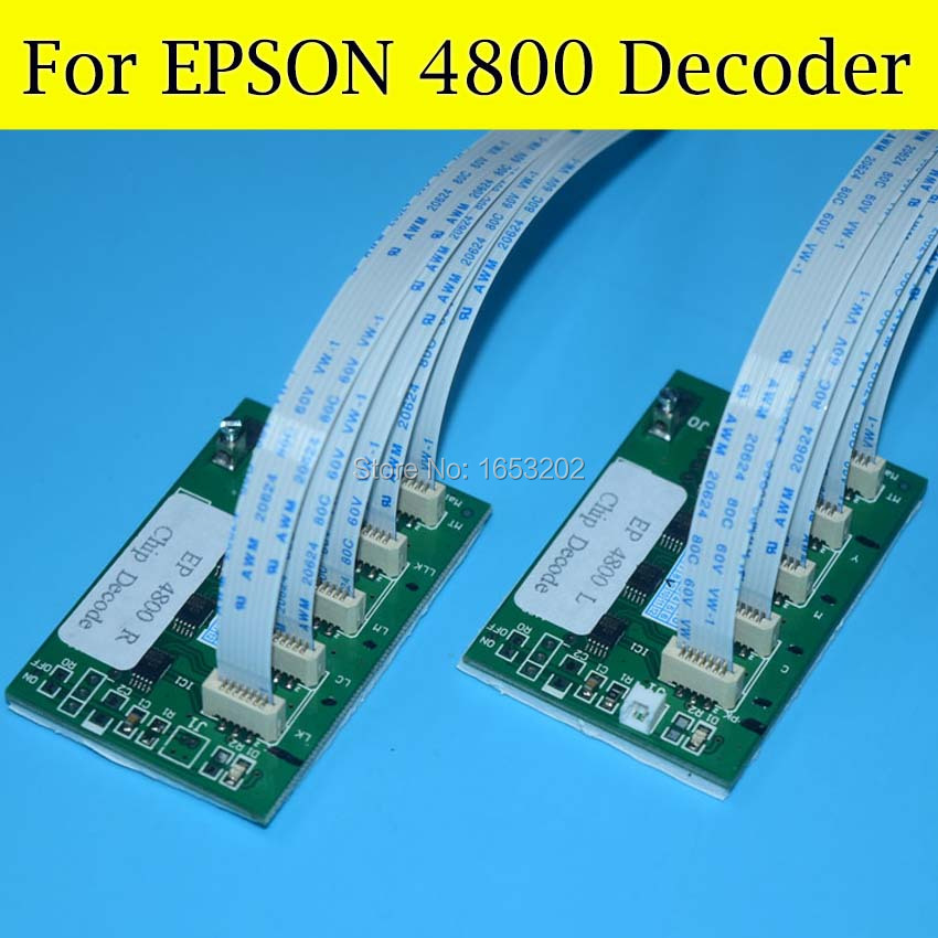 2 PC/Lot Cartridge Chip Decoder For Epson Stylus PRO 4800 Printer Ink Cartridge 2 pc set chip decoder card for epson stylus pro 7400 9400 wide format printer 9400 t5678 t5674 ink cartridge