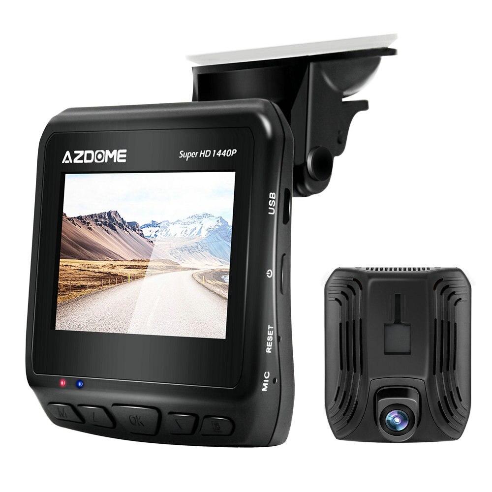 Azdome DAB211 GPS Car DVR Ambarella A12 Car Camera Super HD 1440P Night Vision Dash Cam with GPS Logger HDR ADAS Loop Recording цена