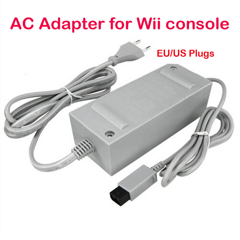 US/EU Plug 100-240V DC 12V 3.7A Home Wall Power Supply AC Charger Adapter Cable for Nintendo Wii Game Console Host nintendo 64 replacement ac adapter