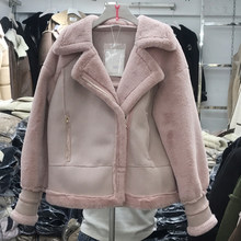 Vintage Retro Winter Faux Fur Lined Coats Woman Automotive Designer Brand Real Piture Soft Rex Rabbit Fur Coats For Women A334(China)