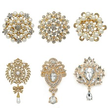 Brooch-Pin-Set-Accessories-Kits Decorative Wedding-Bouquets Crystal Large-Size of WEIMANJINGDIAN